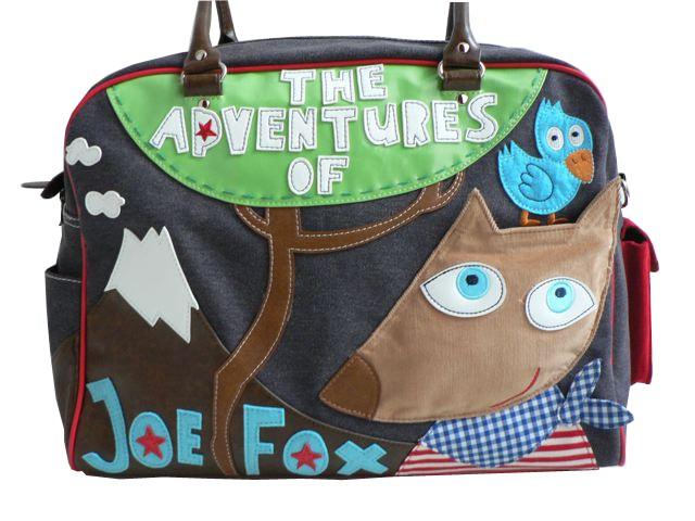 Supercoole logeer /  luiertas Joe Fox jongens