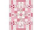 Luxueuze grote quilt voor grote meisjes met appel en kersenmotief