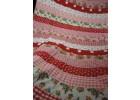 Prachtige grote  quilt roze, rood en witte strepen voor meisjes